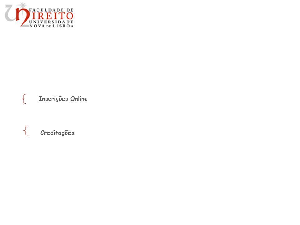 Inscrições Online Creditações