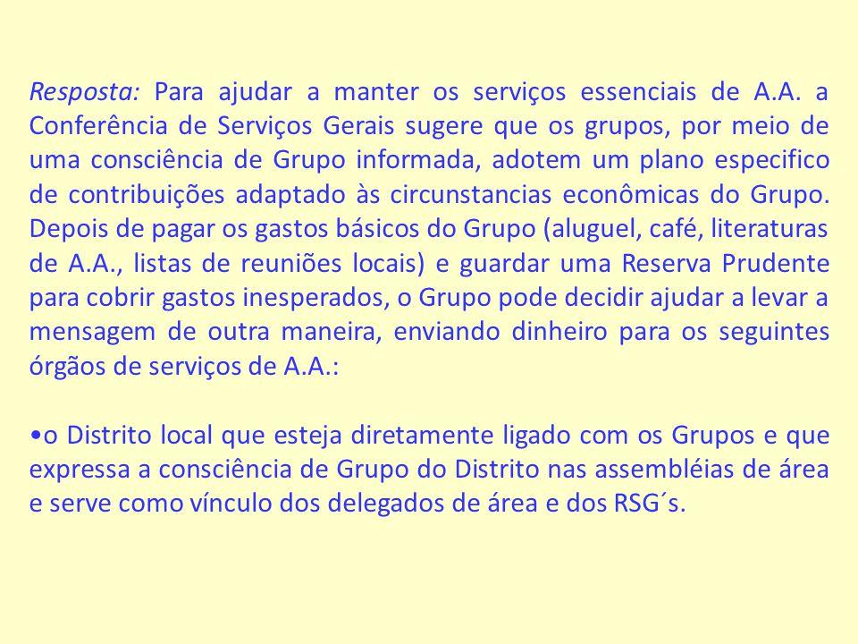 Pergunta: O nosso Grupo é responsável pelo reembolso dos gastos com servidores ?