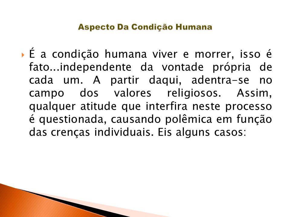  É a condição humana viver e morrer, isso é fato...independente da vontade própria de cada um. A partir daqui, adentra-se no campo dos valores religi