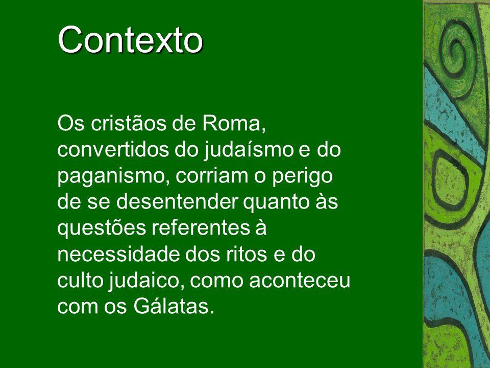 São Paulo viu a necessidade de expor, agora com mais moderação e maturidade do que na carta dirigida aos cristãos da Galácia, a solução do problema judaísmo-cristianismo.