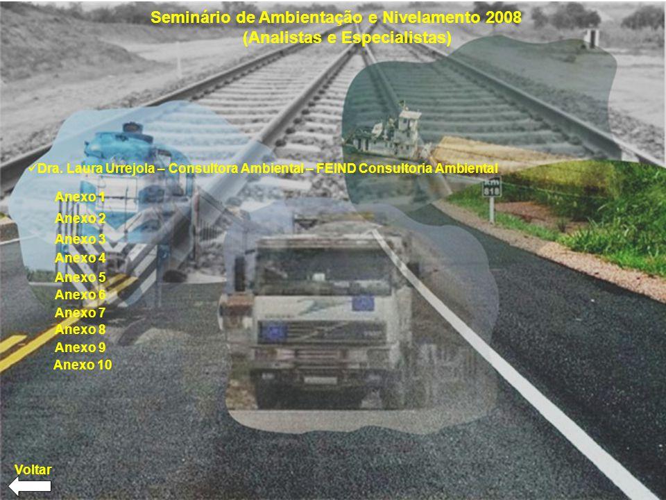 Seminário de Ambientação e Nivelamento 2008 (Analistas e Especialistas) Dra.