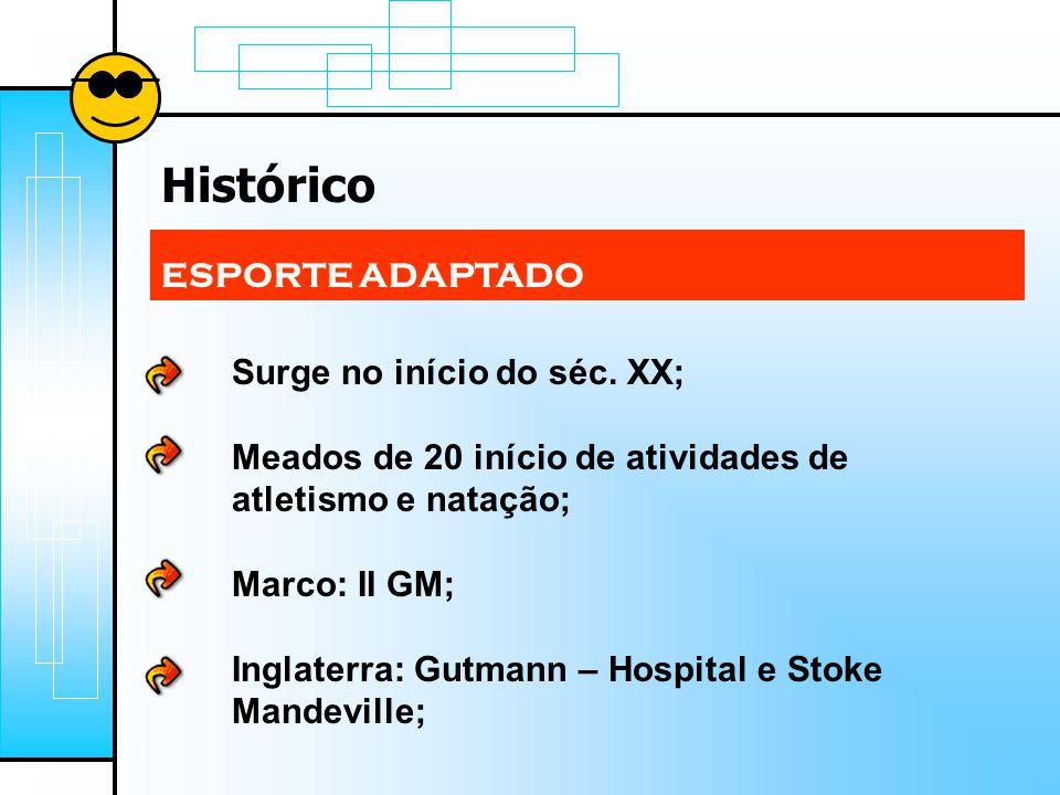 Histórico ESPORTE ADAPTADO Surge no início do séc.