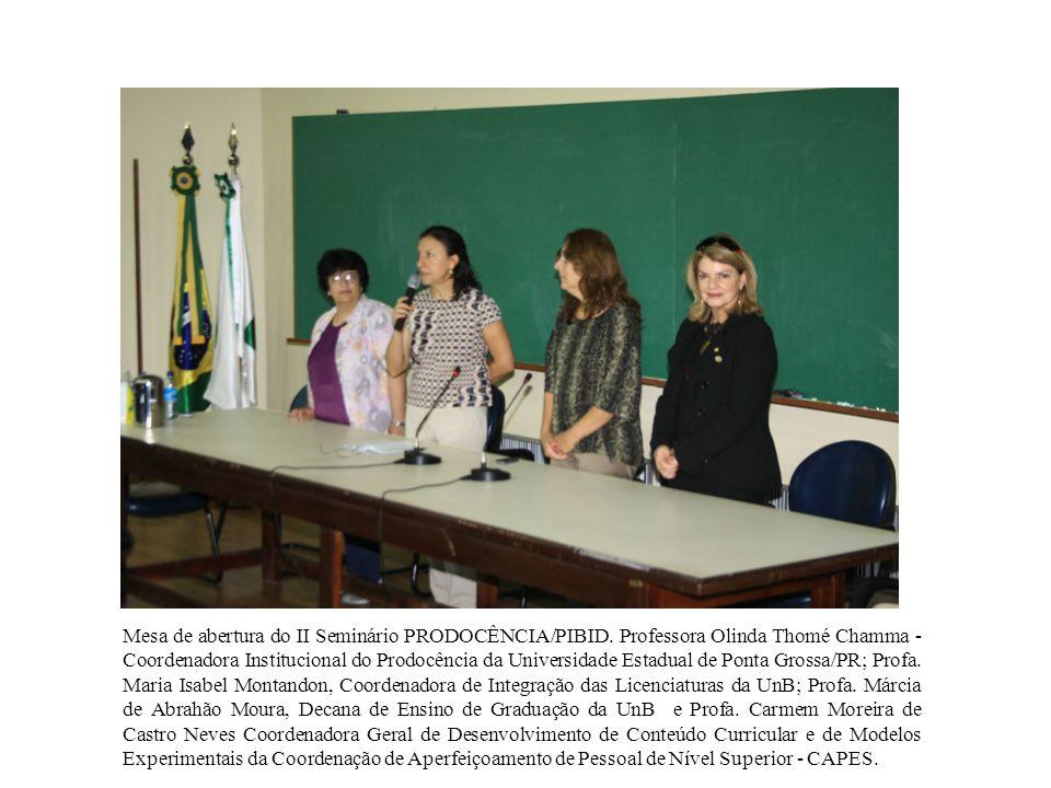 Mesa de abertura do II Seminário PRODOCÊNCIA/PIBID.