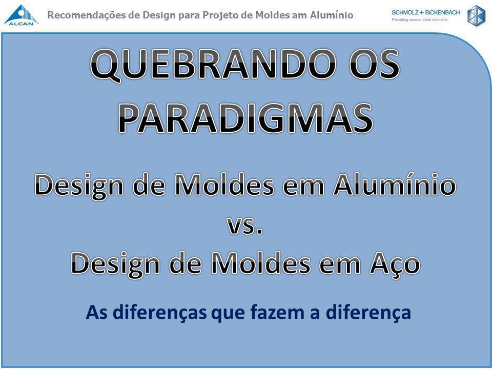 As diferenças que fazem a diferença Recomendações de Design para Projeto de Moldes am Alumínio