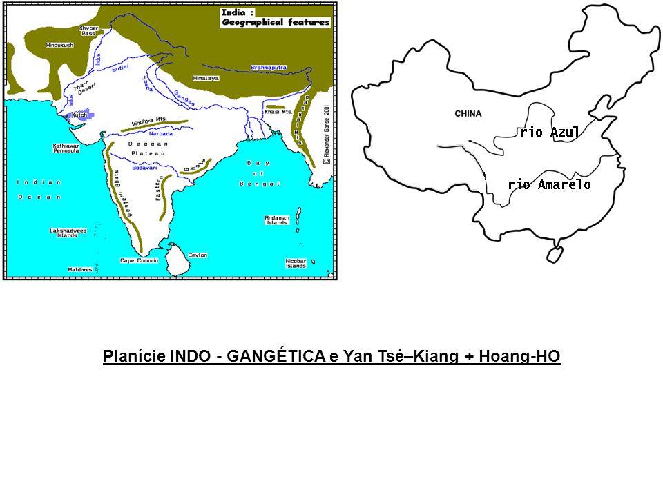 Planície INDO - GANGÉTICA e Yan Tsé–Kiang + Hoang-HO