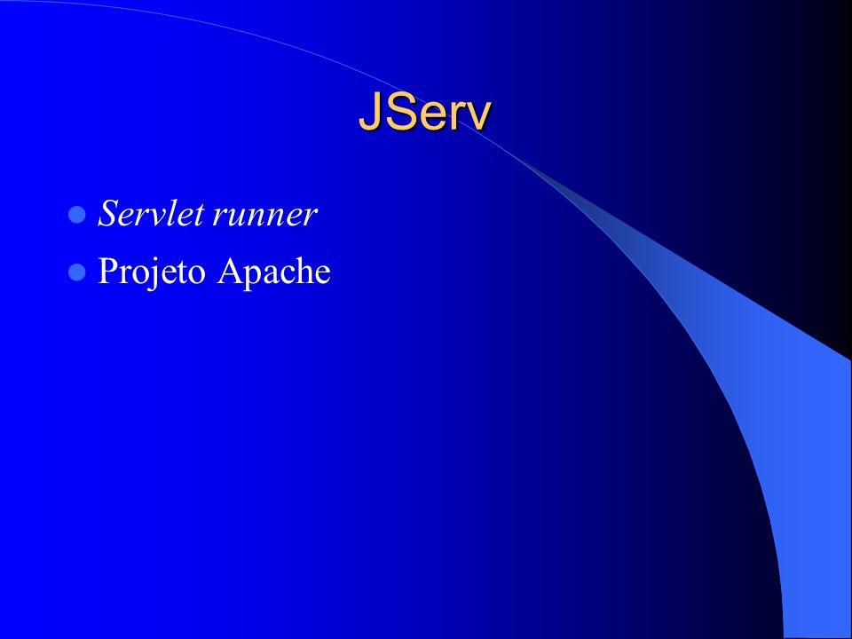 JServ Servlet runner Projeto Apache
