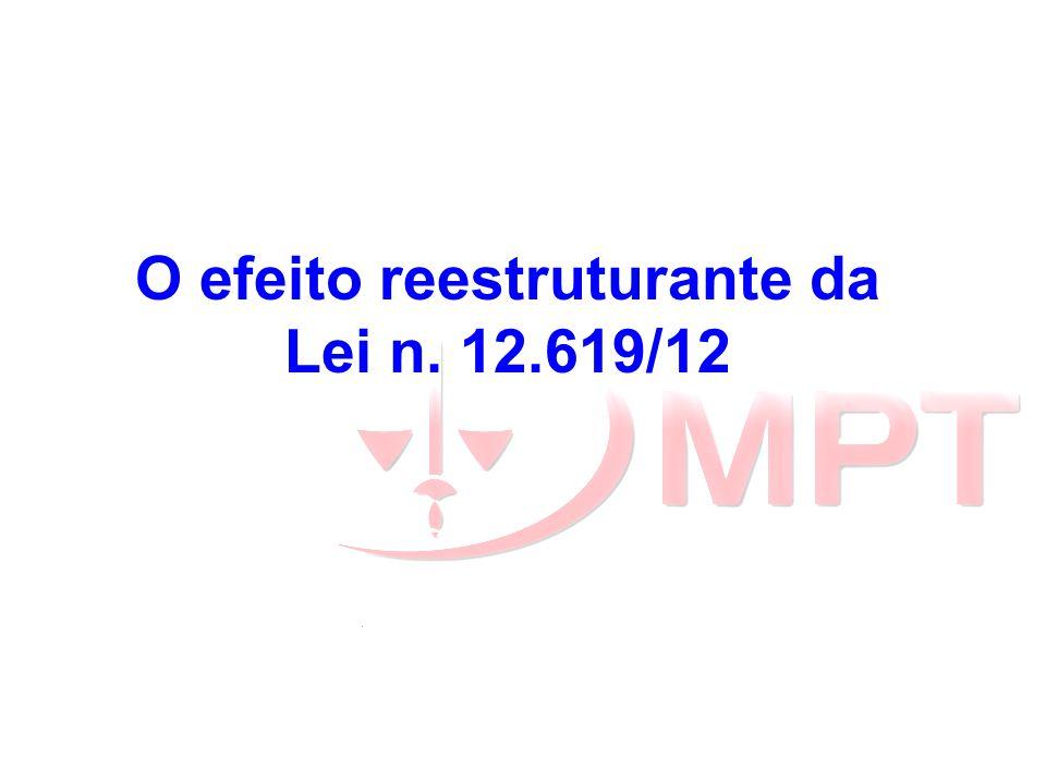 O efeito reestruturante da Lei n. 12.619/12