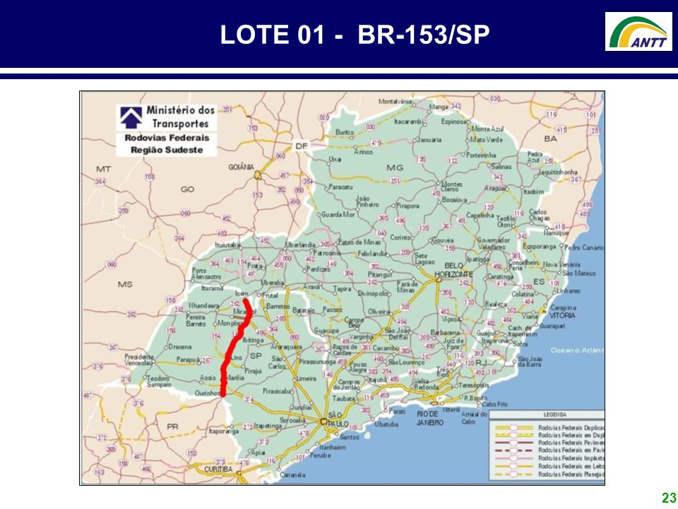 23 LOTE 01 - BR-153/SP