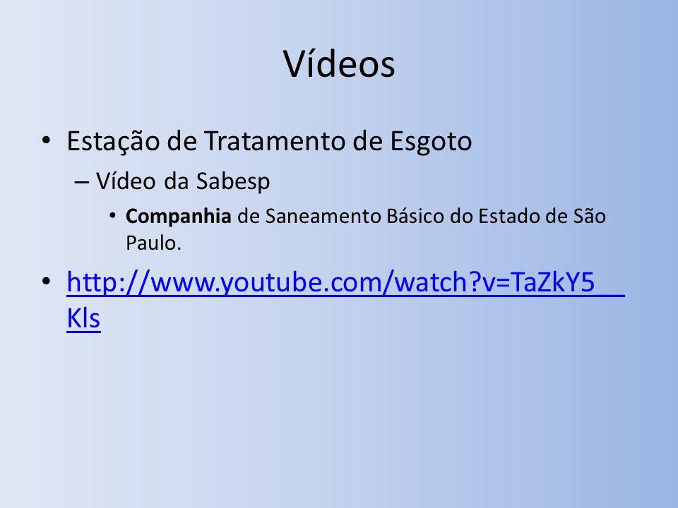 Vídeos Estação de Tratamento de Esgoto – Vídeo da Sabesp Companhia de Saneamento Básico do Estado de São Paulo.