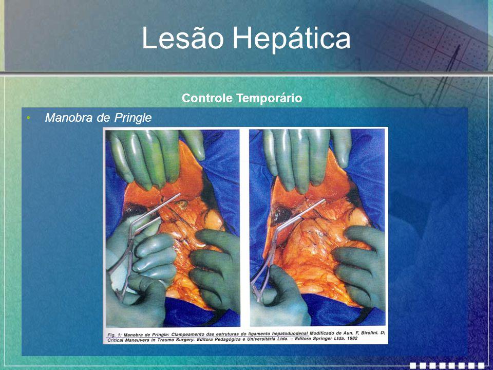 Lesão Hepática Manobra de Pringle Controle Temporário