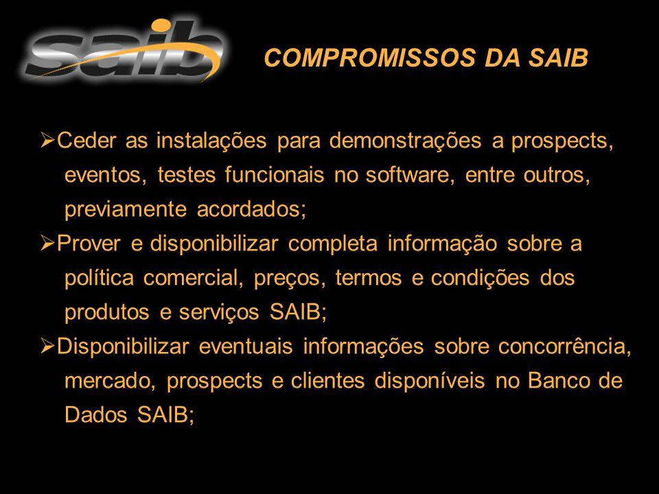  Ceder as instalações para demonstrações a prospects, eventos, testes funcionais no software, entre outros, previamente acordados;  Prover e disponi
