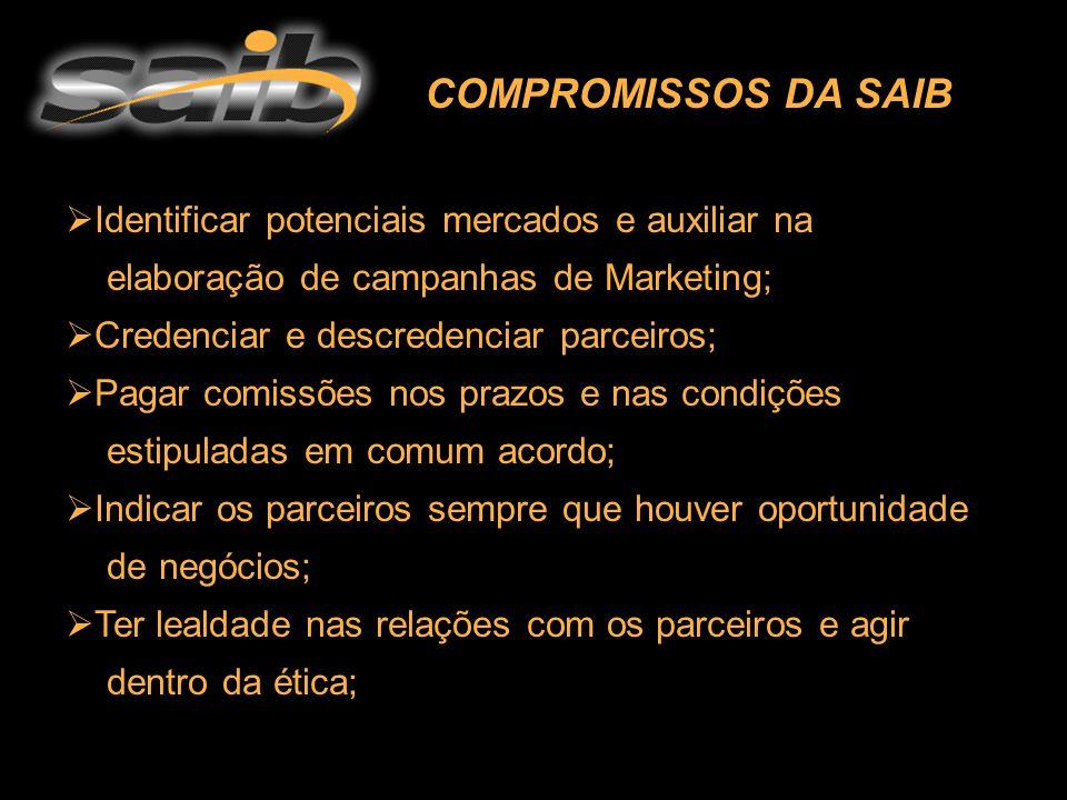  Identificar potenciais mercados e auxiliar na elaboração de campanhas de Marketing;  Credenciar e descredenciar parceiros;  Pagar comissões nos pr