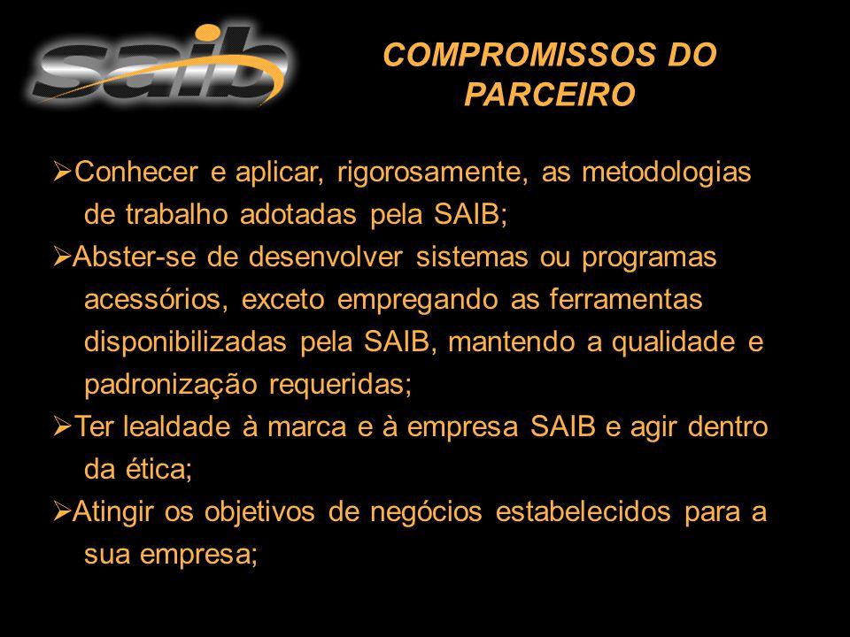  Conhecer e aplicar, rigorosamente, as metodologias de trabalho adotadas pela SAIB;  Abster-se de desenvolver sistemas ou programas acessórios, exce