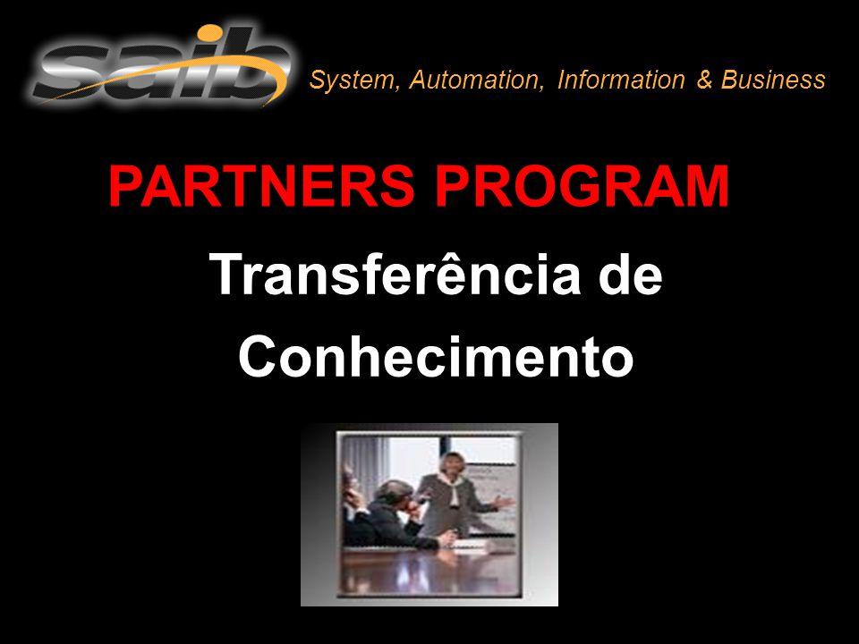 PARTNERS PROGRAM Transferência de Conhecimento System, Automation, Information & Business