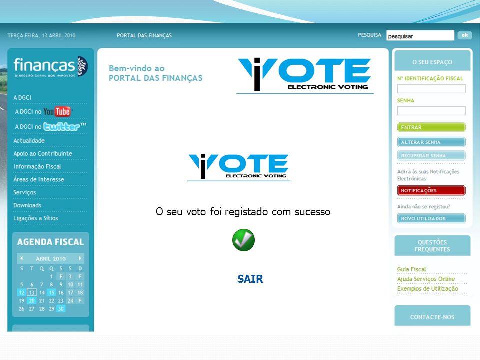 O seu voto foi registado com sucesso SAIR