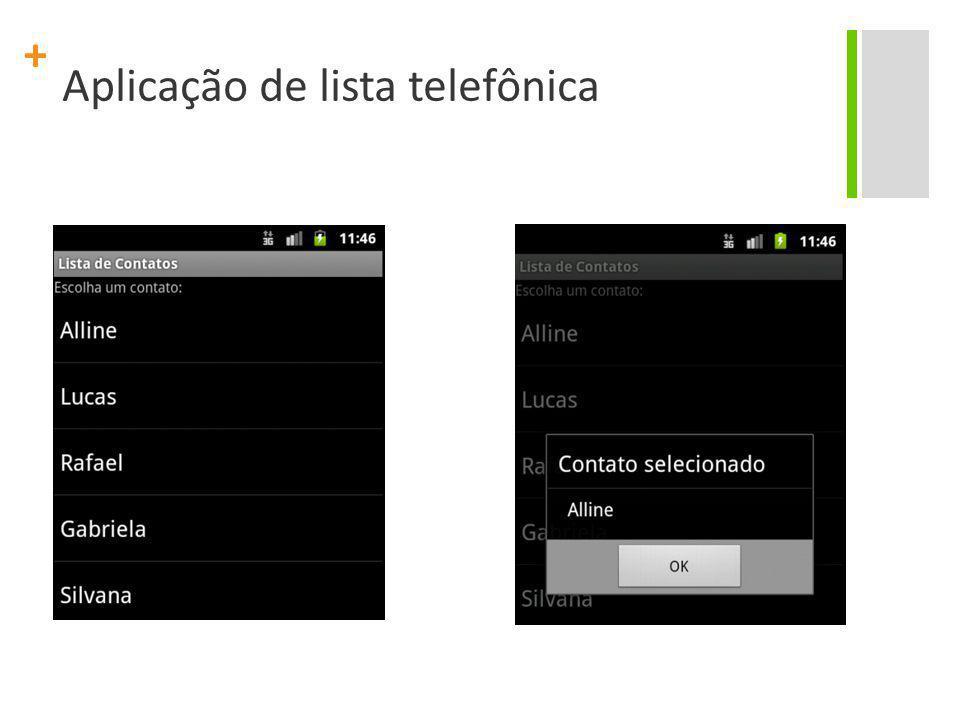 + Aplicação de lista telefônica