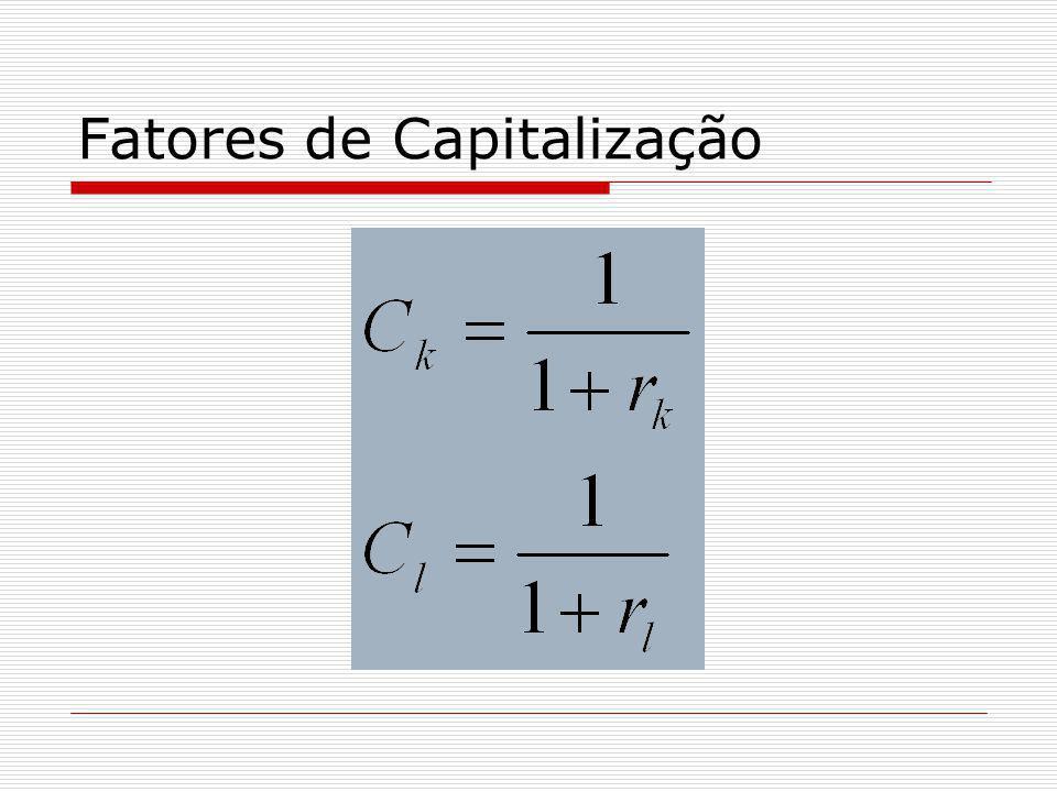 Fatores de Capitalização