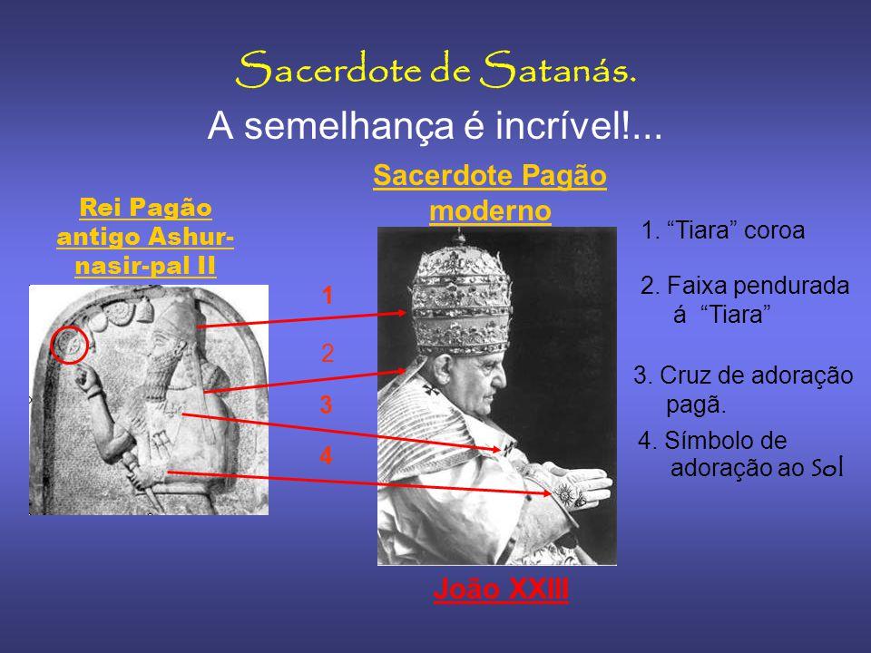 Rei Shamshi Adad V Note a forma de usar a cruz Pátea num antigo Rei 2800 anos atrás, o uso desta cruz simbolizava a adoração pagâ ao deus Sol.