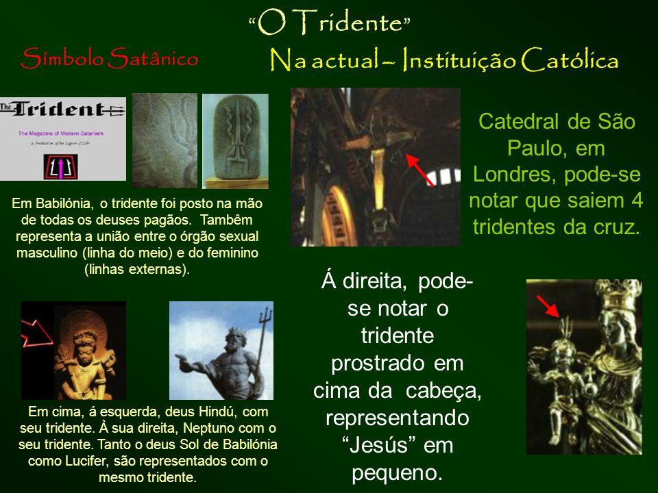 Símbolo Satânico Na actual – Instituição Católica Corsier , bastão da serpente Deusa Atena, com o bastão corsier bastão em forma de serpente na sua mão, símbolo de poder.