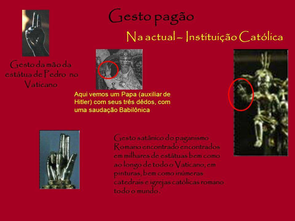 Símbolo Satânico Na actual – Instituição Católica O Tridente Em Babilónia, o tridente foi posto na mão de todas os deuses pagãos.