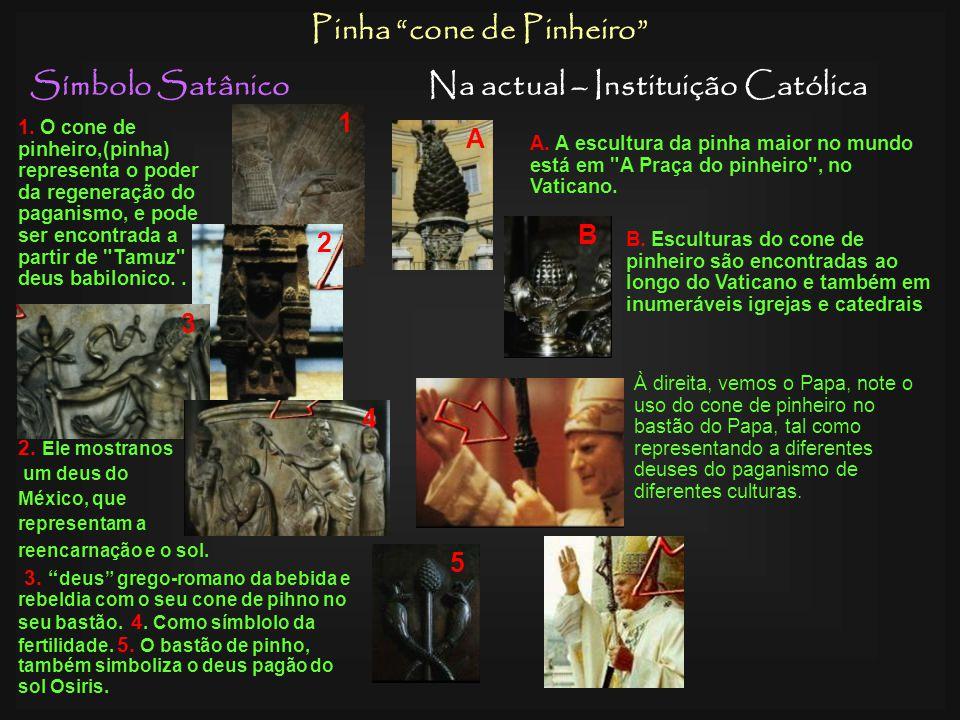 Símbolo SatânicoNa actual – Instituição Católica Rosário Esquerda, divindade Hindú com um rosário adoração pagã .