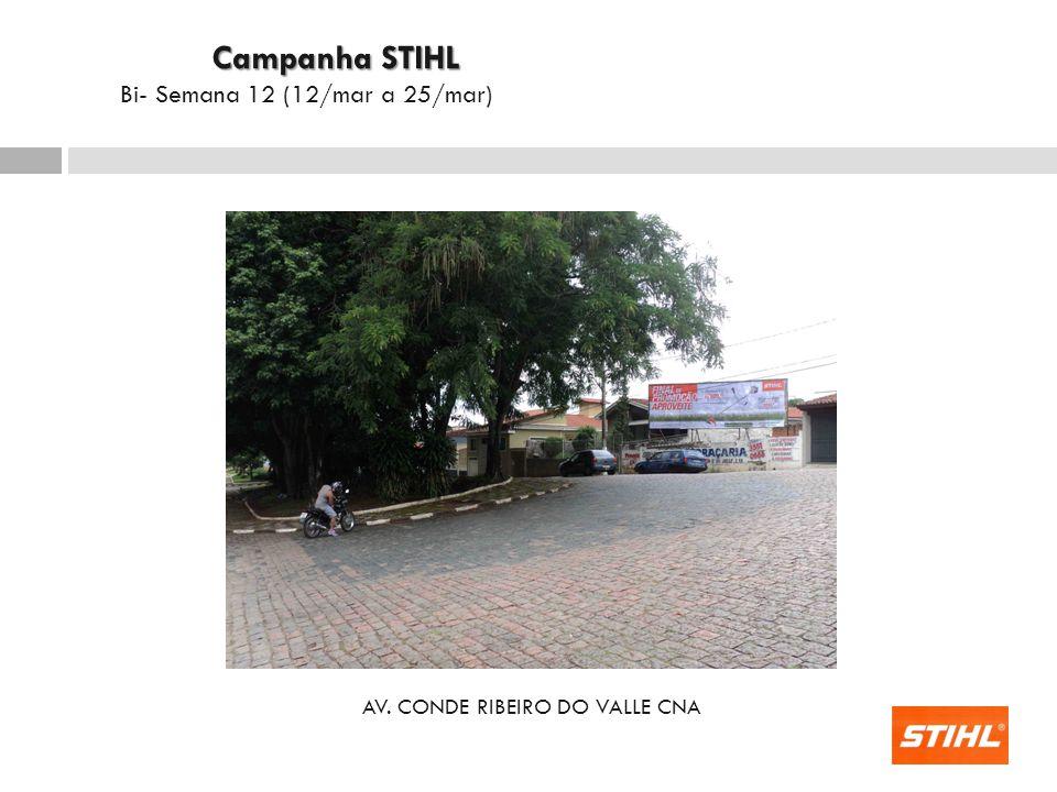 AV. CONDE RIBEIRO DO VALLE CNA Campanha STIHL Campanha STIHL Bi- Semana 12 (12/mar a 25/mar)