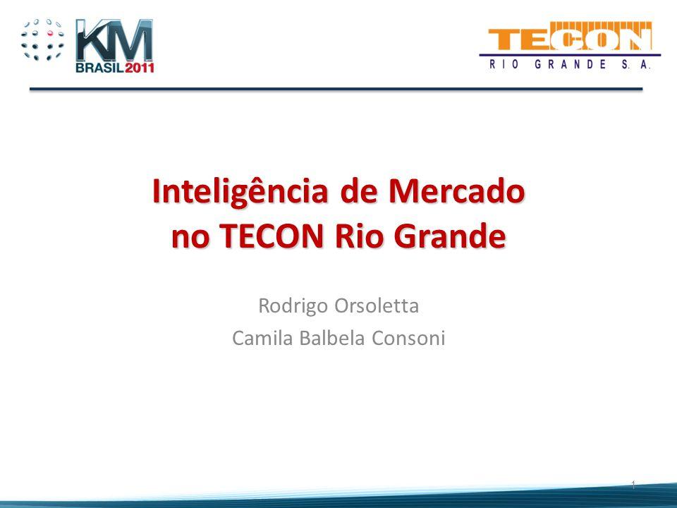 Inteligência de Mercado no TECON Rio Grande Rodrigo Orsoletta Camila Balbela Consoni 1