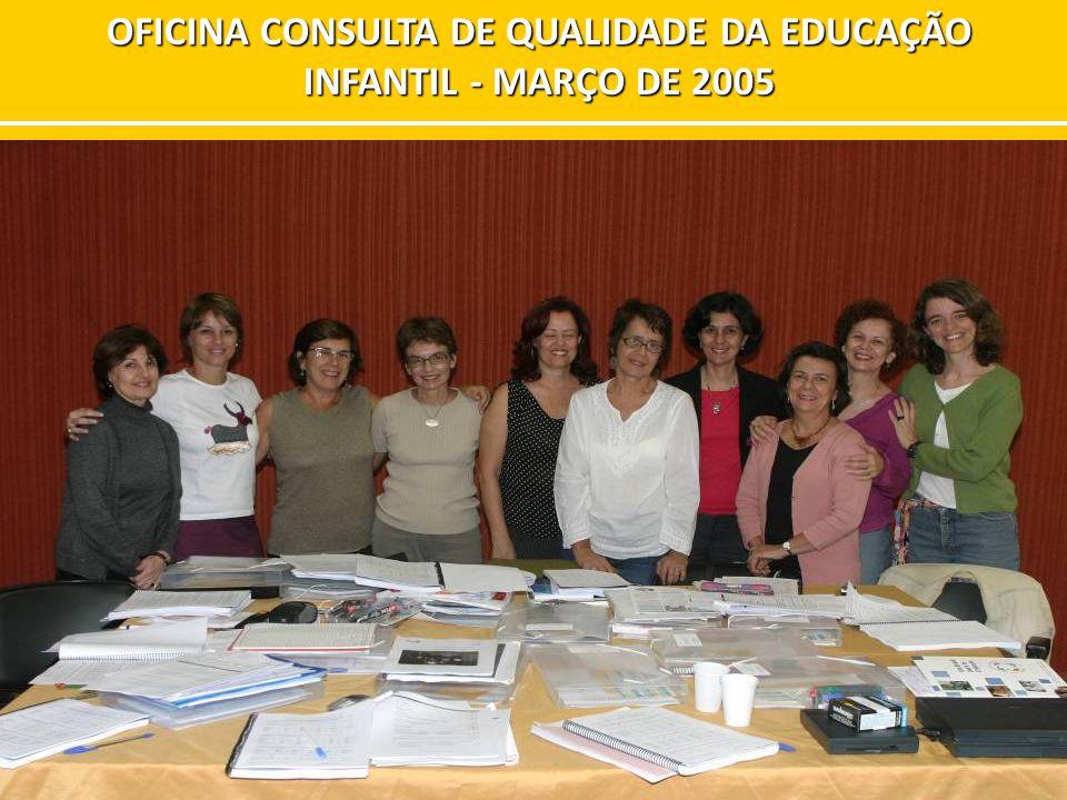 OFICINA CONSULTA DE QUALIDADE DA EDUCAÇÃO INFANTIL - MARÇO DE 2005