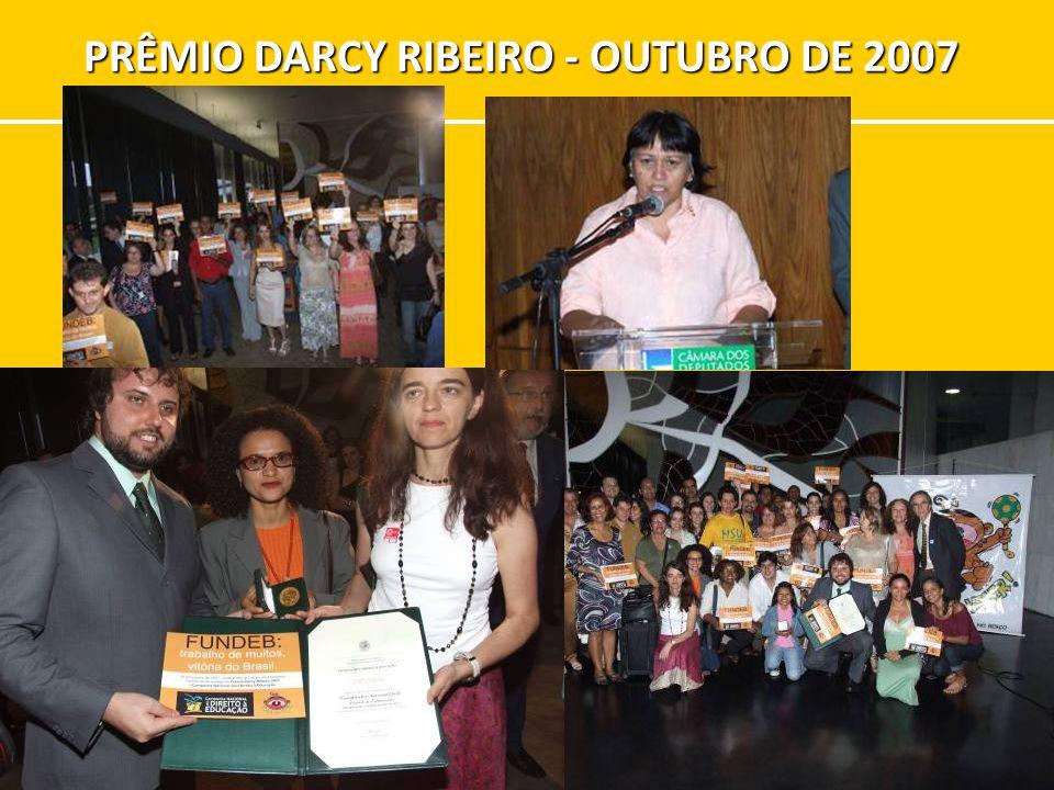 PRÊMIO DARCY RIBEIRO - OUTUBRO DE 2007