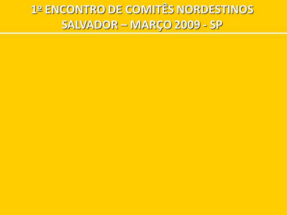 1 o ENCONTRO DE COMITÊS NORDESTINOS SALVADOR – MARÇO 2009 - SP