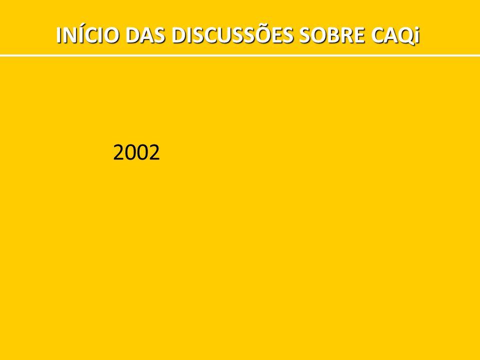 INÍCIO DAS DISCUSSÕES SOBRE CAQi 2002