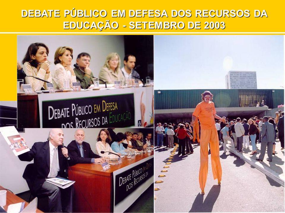 DEBATE PÚBLICO EM DEFESA DOS RECURSOS DA EDUCAÇÃO - SETEMBRO DE 2003
