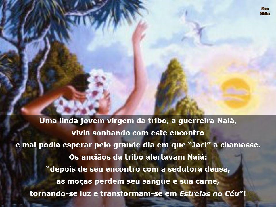 """Diziam os Pajés Tupis-Guaranis que, há muitos anos, em uma tribo indígena, contava-se que a Lua - """"Jaci"""", era uma deusa que ao despontar na noite, bei"""