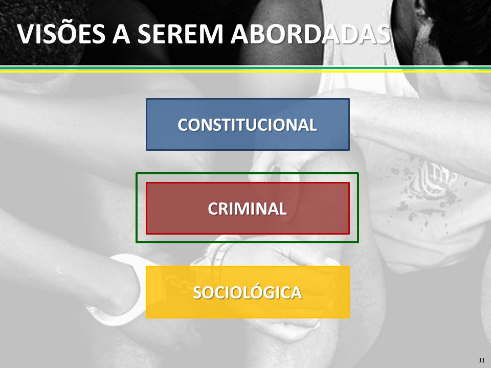 VISÕES A SEREM ABORDADAS 11 CONSTITUCIONAL CRIMINAL SOCIOLÓGICA