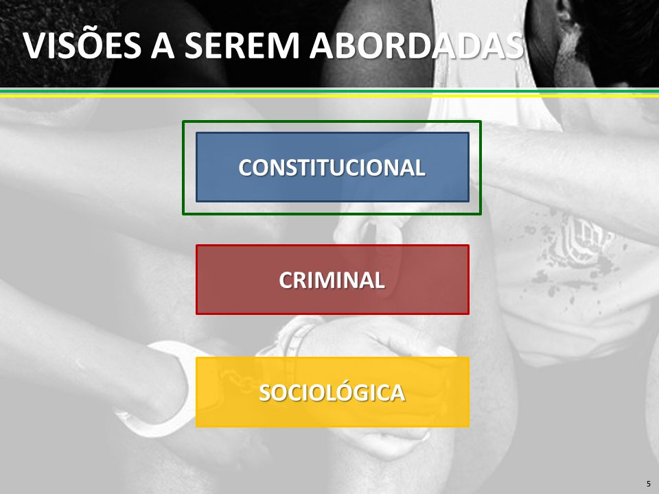 VISÕES A SEREM ABORDADAS 5 CONSTITUCIONAL CRIMINAL SOCIOLÓGICA