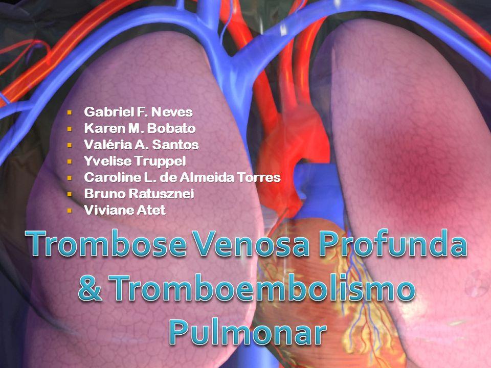 TVP  Obstrução do segmento venoso profundo por trombo.