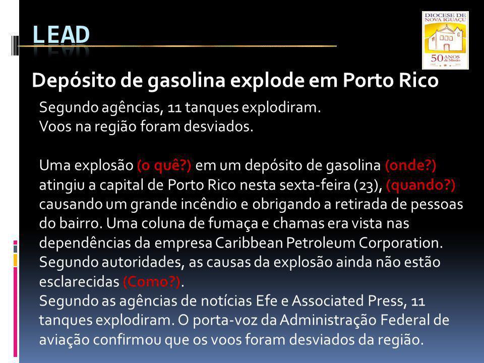 Depósito de gasolina explode em Porto Rico Segundo agências, 11 tanques explodiram. Voos na região foram desviados. Uma explosão (o quê?) em um depósi
