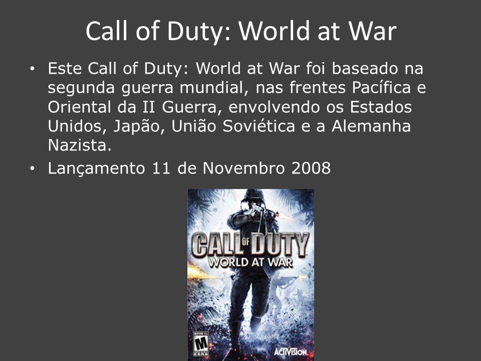 Call of Duty: Modern Warfare 2 Este Call of Duty: Modern Warfare 2 baseado numa tropa Rangers que defende os estados unidos de uma invasão Russa.
