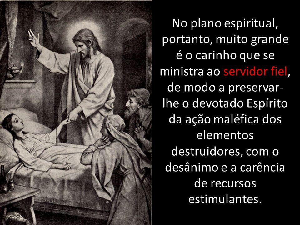 No plano espiritual, portanto, muito grande é o carinho que se ministra ao servidor fiel, de modo a preservar- lhe o devotado Espírito da ação maléfic