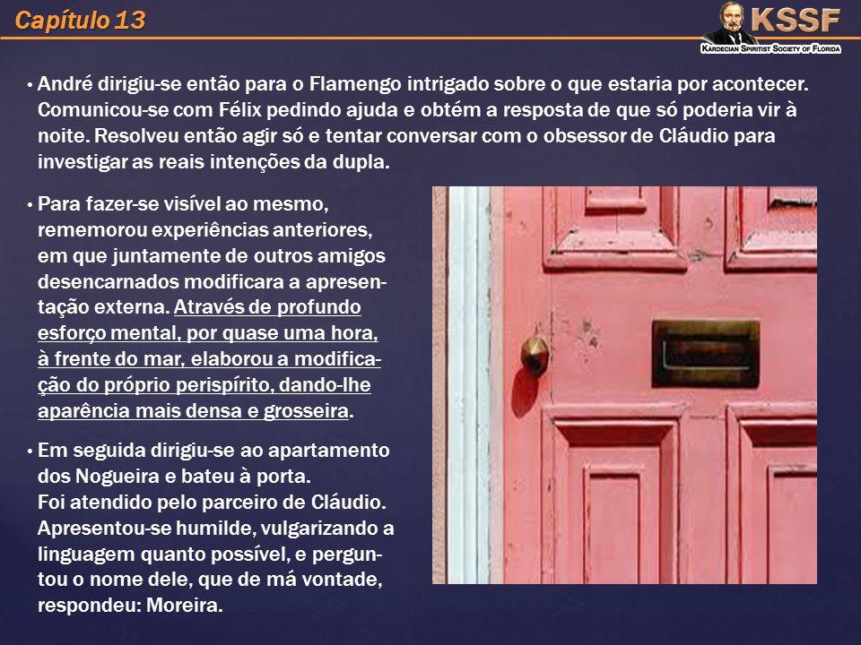 Capítulo 13 André dirigiu-se então para o Flamengo intrigado sobre o que estaria por acontecer.