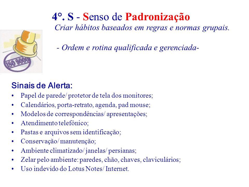 Sinais de Alerta: Papel de parede/ protetor de tela dos monitores; Calendários, porta-retrato, agenda, pad mouse; Modelos de correspondências/ apresen