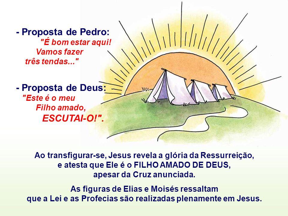 O Evangelho fala da fé dos Apóstolos: (Mc 9,2-10) Na caminhada para Jerusalém, o 1º Anúncio da Paixão de Jesus abalou profundamente a fé dos apóstolos.