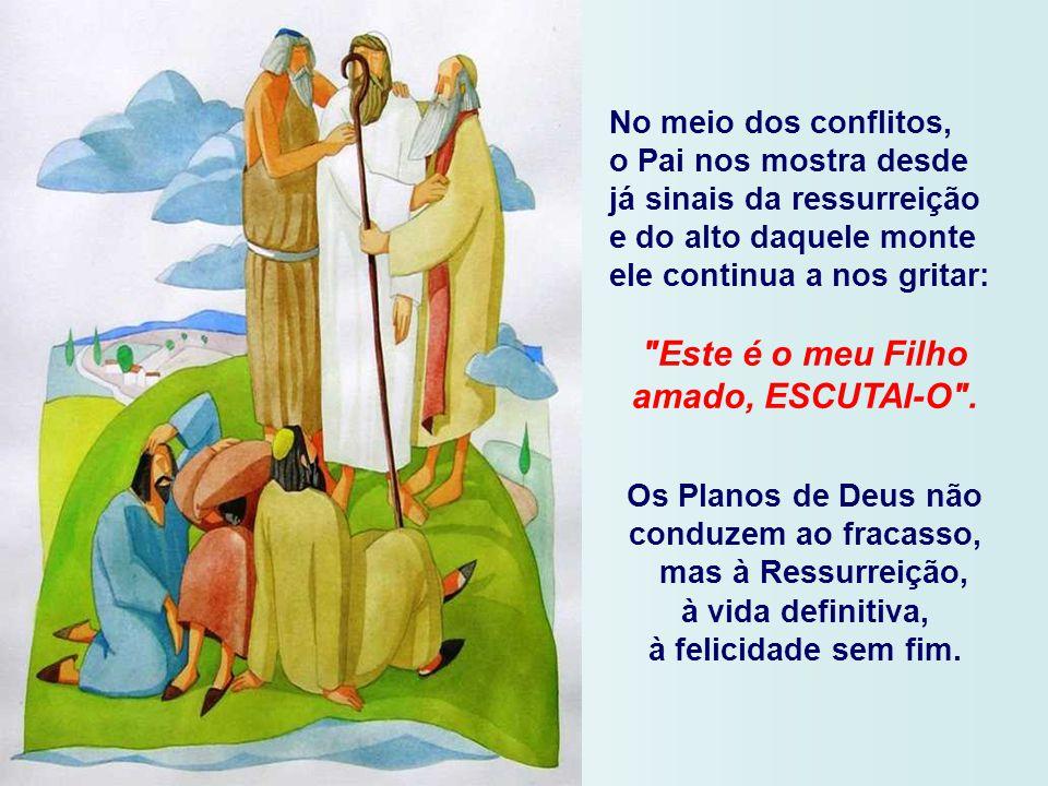 somos convidados a subir com Jesus a montanha e, na companhia dos discípulos, viver em comunhão com eles.