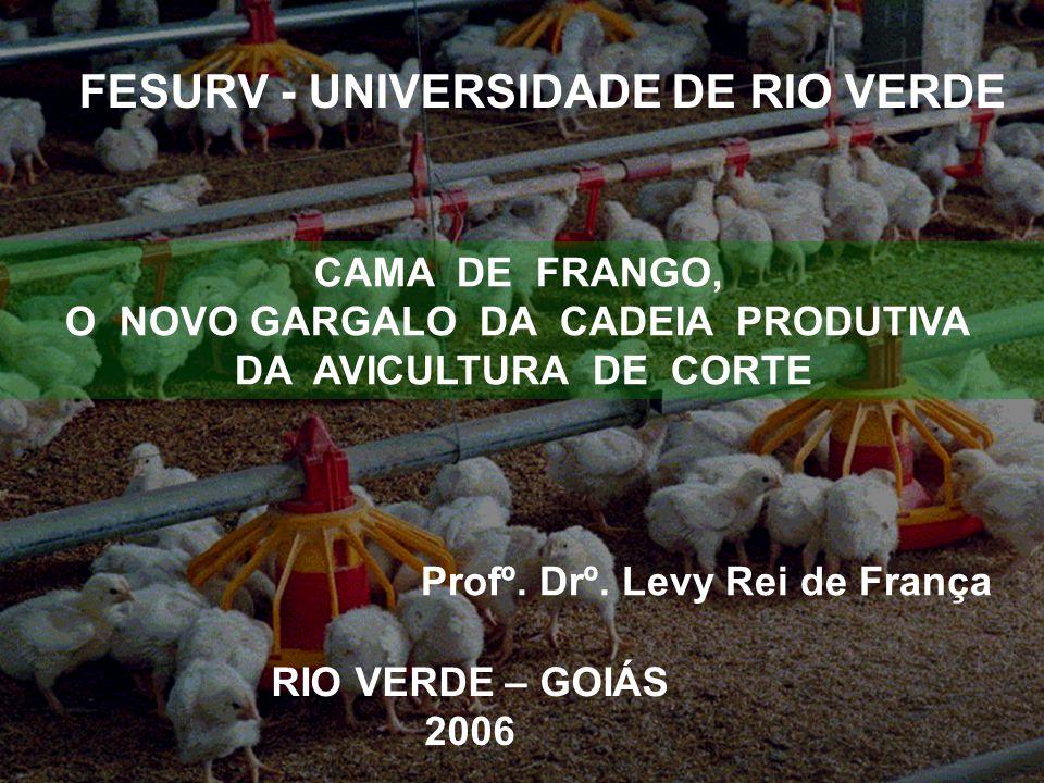 FESURV - UNIVERSIDADE DE RIO VERDE RIO VERDE – GOIÁS 2006 Profº. Drº. Levy Rei de França CAMA DE FRANGO, O NOVO GARGALO DA CADEIA PRODUTIVA DA AVICULT