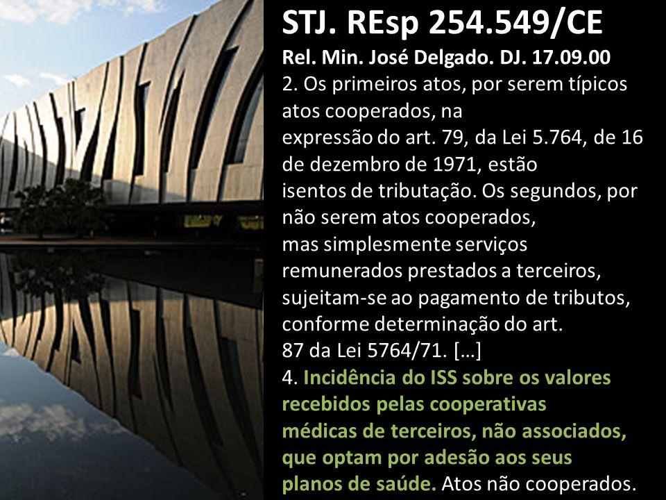 STJ.REsp 254.549/CE Rel. Min. José Delgado. DJ. 17.09.00 2.