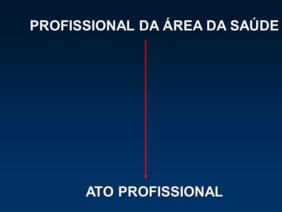 PROFISSIONAL DA ÁREA DA SAÚDE ATO PROFISSIONAL