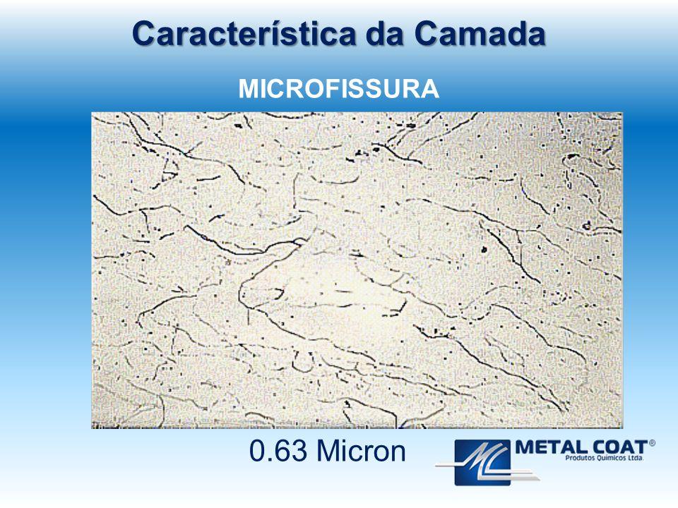 0.63 Micron Característica da Camada MICROFISSURA