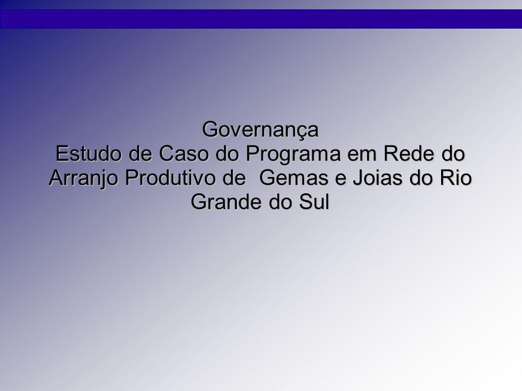 Governança Estudo de Caso do Programa em Rede do Arranjo Produtivo de Gemas e Joias do Rio Grande do Sul