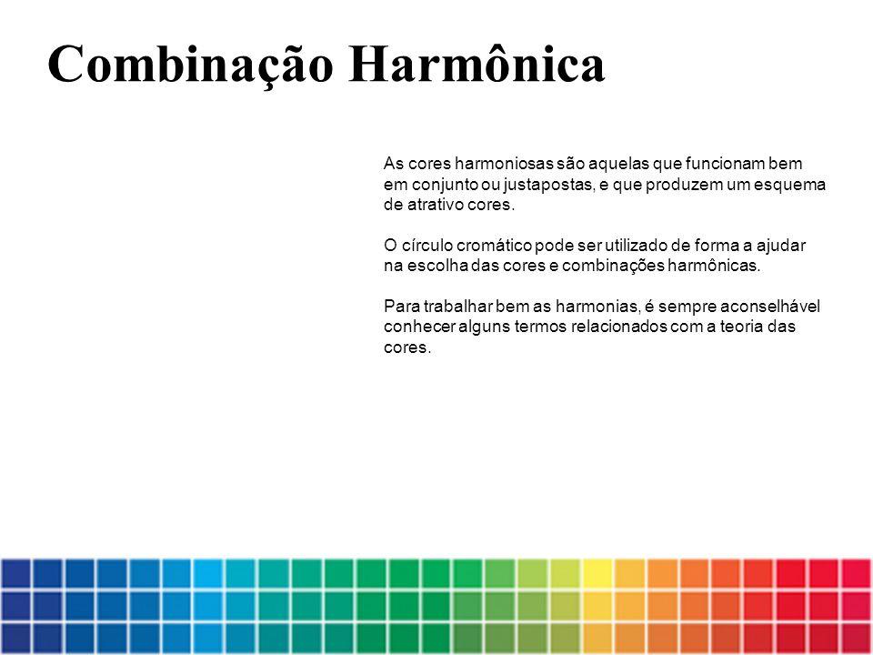 As cores harmoniosas são aquelas que funcionam bem em conjunto ou justapostas, e que produzem um esquema de atrativo cores.