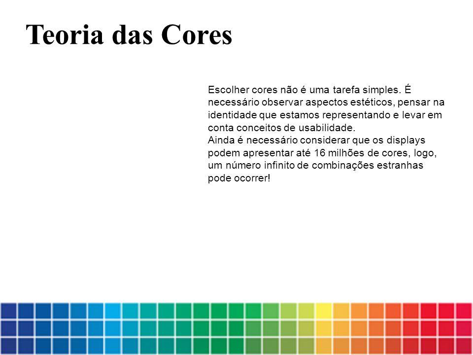 Escolher cores não é uma tarefa simples. É necessário observar aspectos estéticos, pensar na identidade que estamos representando e levar em conta con